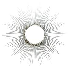 starburst wall mirror silver sunburst signed brass for type decorative metal and acrylic clock