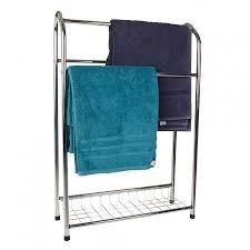 towel stand wood. Chrome Towel Stand Wood E