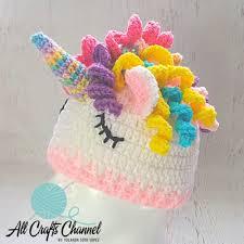 Crochet Unicorn Hat Pattern Free