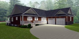 image of angled garage bungalow house plans