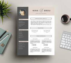 Resume Template Modern Best Modern Resume Template CV Template By HedgehogBoulevard On Etsy