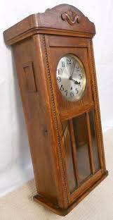 oak case westminster chime hanging wall clock 170034 ingantiques co uk
