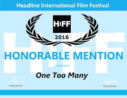 Honorable Mention Certificate One Too Many Honorable Mention Certificate Jpg
