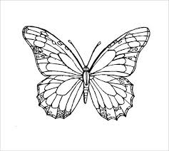Printable Butterfly Outline 28 Butterfly Templates Printable Crafts Colouring Pages