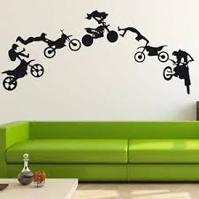 dirt bike wall decor