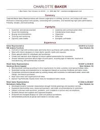 Retail Resumes Sales Associate Retail Customer Service Skills Resume Retail Customer Service Resume
