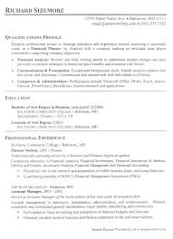Finance Resume Impressive Finance Resume Example Financial Services Resumes