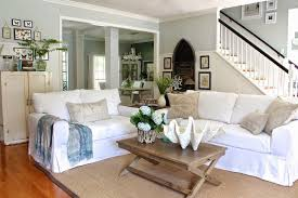 white coastal furniture. Beach House With White Coastal Slipcover Sofas Furniture