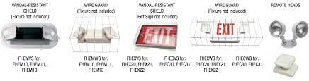 fulham lighting global intelligent sustainable exit signs accessories