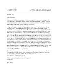 Fashion Internship Cover Letter Sample Alexandrasdesign Co