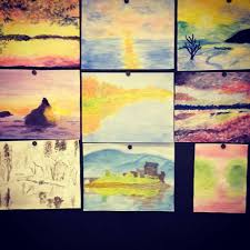 seventh grade water colors