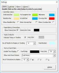 Customizing The Gantt Chart Timeline Colors Gantt Excel