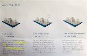 internet cable installation turns into 'nightmare' for residents Bell Fibe TV Remote a bell pamphlet sent out to residents outlines the work that would be done on properties in the area (steve stinson twitter)