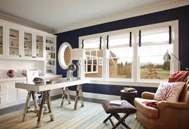 blue and white home office design blue white home office