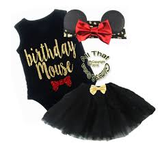 black and red glitter birthday mouse tutu outfit for baby girls and little girls