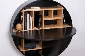 wall mounted desk black 07