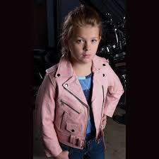 allstate leather inc girl s pink cowhide leather motorcycle jacket