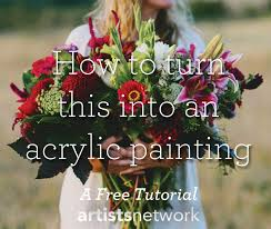 learn how to paint with acrylics for beginners save this fl acrylic painting tutorial for