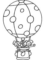 Luchtballon Kleurplaten Knutselpaginanl Knutselen Knutselen