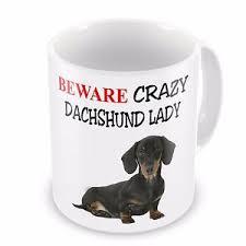 image is loading beware crazy dachshund lady funny novelty gift mug