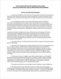 Mutual Confidentiality Agreement Magnificent 44 Mutual Confidentiality Agreement Examples PDF Word