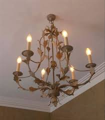 the hamilton 6 arm wrought iron candle chandelier