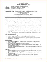Retail Manager Resume Resumes Sales Job Description Store Template