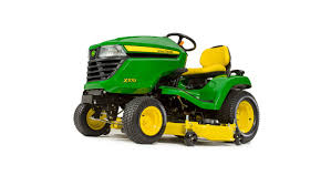three quarter view of x570 lawn tractor with 48 inch deck