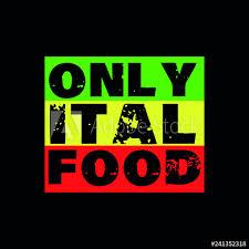 Reggae Rasta Veggie Ital Food Flag Poster Jamaica Buy This