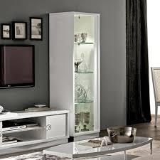caligula italian white high gloss 1 door glass display cabinet