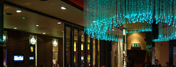 fiber optic chandelier in the curry lounge