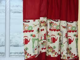 Retro Red Kitchen Red Kitchen Curtains Retro