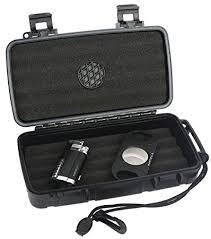 mantello reserve cigar travel humidor lighter cutter cigar gift set