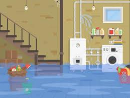 broken water main flooded basement