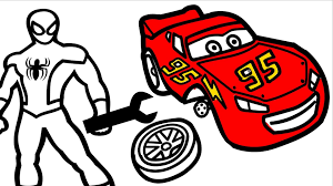 Each of these included free spiderman coloring pages was gathered from around the web. Spiderman Repair Disney Cars Lightning Mcqueen Coloring Pages For Kids Coloring Book Video Dailymotion