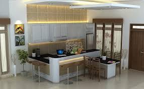 desain kitchen set dan mini bar minimalis modern karya desain arsitek jogja