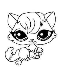 Lps Cat Coloring Pages Watsicacom