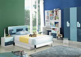 Modern Blue Bedroom Bedroom Casual Image Of Modern Blue And White Bedroom Decoration