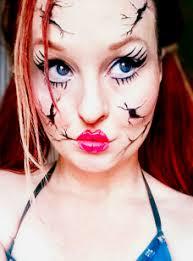 easy broken doll makeup look by l a addams art