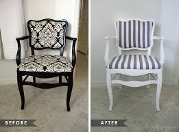Old chair reupholstery and paint before and after pictures