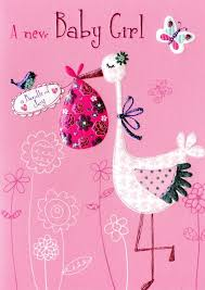 New Baby Girl Congratulations Greeting Card Second Nature Daydreams