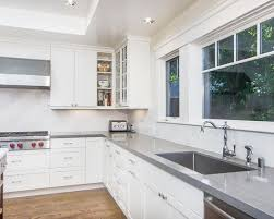 kitchen windows superb caesarstone combined with white cabinet and silver sink also glass win
