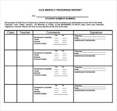 Weekly Progress Report Templates Student Weekly Progress Report Sample For Mid School Violeet