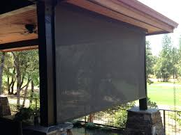 custom outdoor shades bamboo roll up size