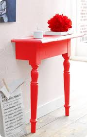 half table for hallway. Half A Side Table In The Hallway Adds Bright Colour To Your Home For