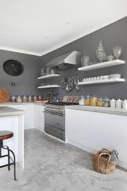 modern white and gray kitchen. View In Gallery Gray Gives The Farmhouse Kitchen A Modern Makeover [Design: VSP Interiors] White And