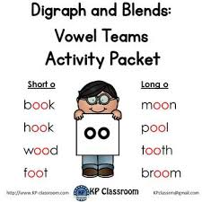 A large collections of long vowel sounds worksheets and other resources to help teach children common vowel patterns (also known as diphthongs). Digraph Long And Short Oo Vowel Teams Activity Packet And Worksheets
