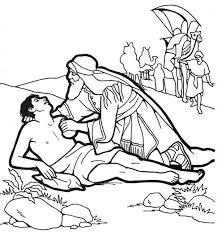 Small Picture Good Samaritan Help Half Dead Traveller Coloring Page NetArt