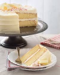 Vanilla Cake with White Chocolate Peppermint Frosting Taste of