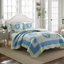 Buy Blue and Yellow Quilts from Bed Bath & Beyond & Laura Ashley® Belle King Quilt in Blue/Yellow Adamdwight.com